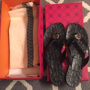 Tory Burch Black/silver Thora sandal